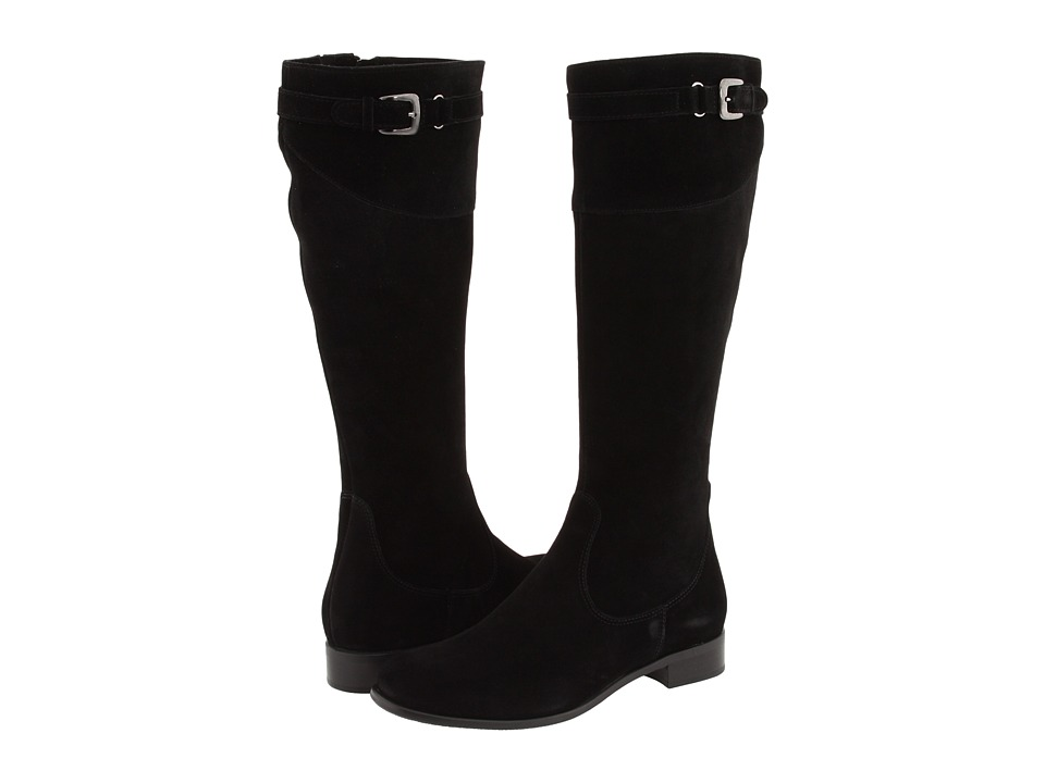 La Canadienne Shane (Black Suede) Women's Zip Boots