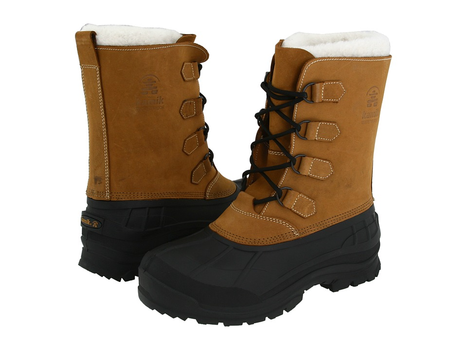 Kamik Alborg Tan Mens Cold Weather Boots