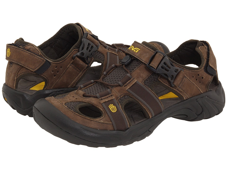 Teva Omnium Leather Brown Mens Sandals