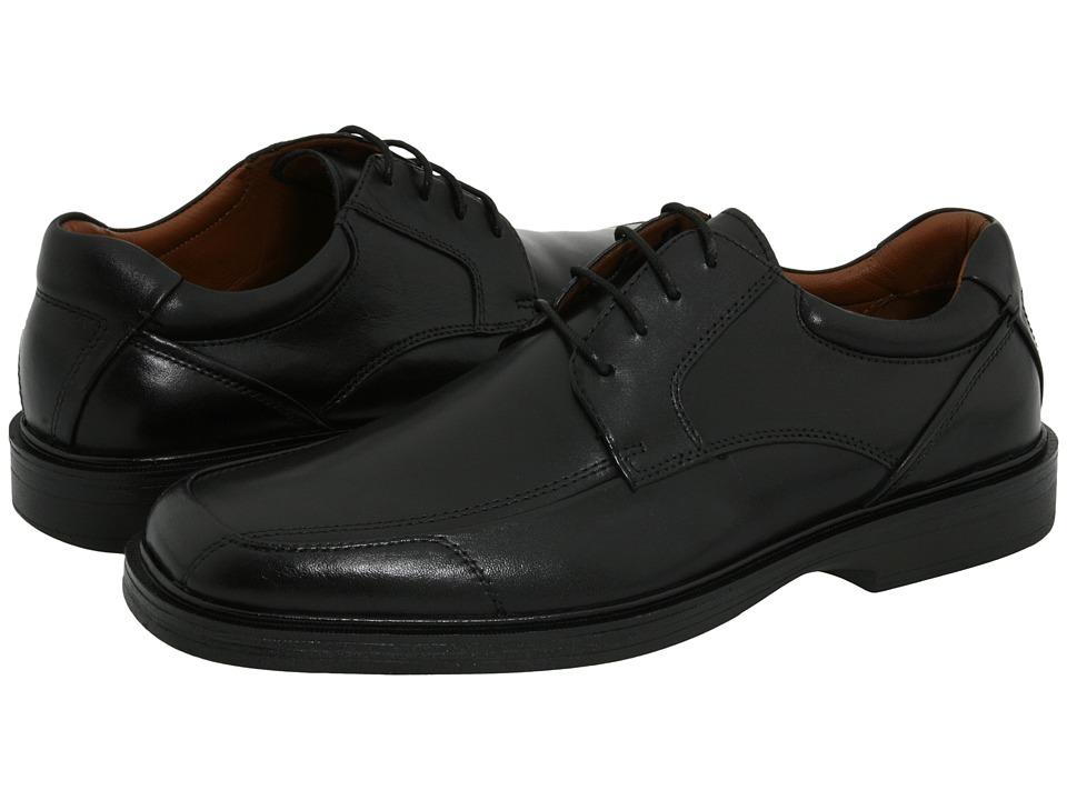 Johnston amp Murphy Pattison Lace Up Black Full Grain Waterproof Leather Mens Lace Up Moc Toe Shoes