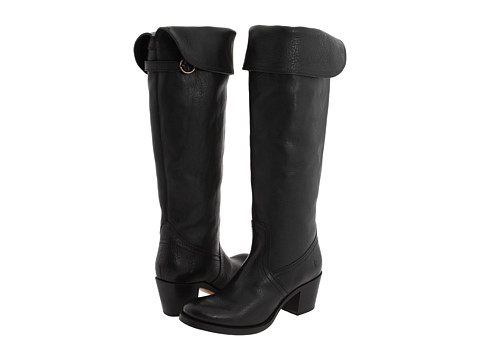 Shop Frye online and buy Frye Jane Tall Cuff Black Pebbled Full Grain Shoes - Frye Jane Tall Cuff Black Pebbled Full Grain Shoes: There's nothing plain about the Jane Tall Cuff! ; This over-the-knee boot is timeless yet trendy. ; The top can also be cuffed down for a shorter shaft. ; Luxurious leather upper with hand-done top stitching. ; Pull-on design. ; Smooth leather lining. ; Cushioned leather insole provides lasting comfort. ; Durable leather outsole. Measurements: ; Heel Height: 2 1 4 in ; Weight: 1 lb 8 oz ; Circumference: 15 1 2 in ; Shaft: 19 1 2 in ; Product measurements were taken using size 7, width B Medium. Please note that measurements may vary by size.