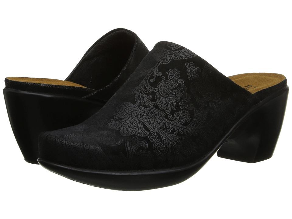 Naot Footwear Dream (Black Lace Nubuck) Women's Clogs/Mule Shoes