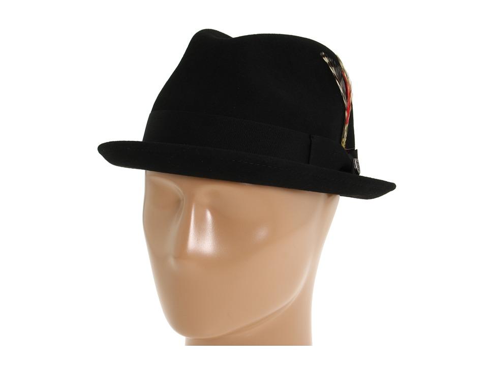 Brixton - Gain Fedora (Black Felt) Fedora Hats