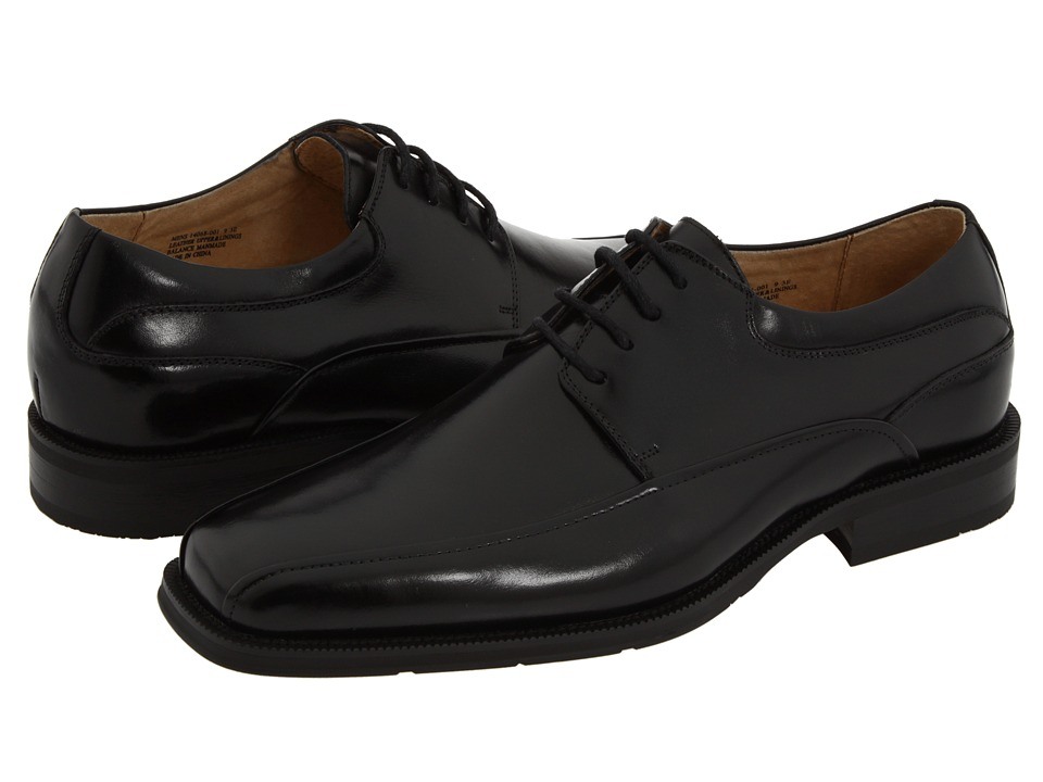 Florsheim - Curtis Bike Toe Oxford (Black Leather) Mens Lace-up Bicycle Toe Shoes