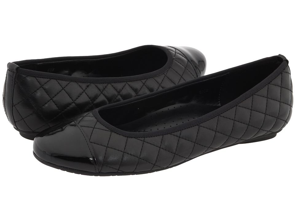 Vaneli Serene (Black Nappa/Black Patent) Flats