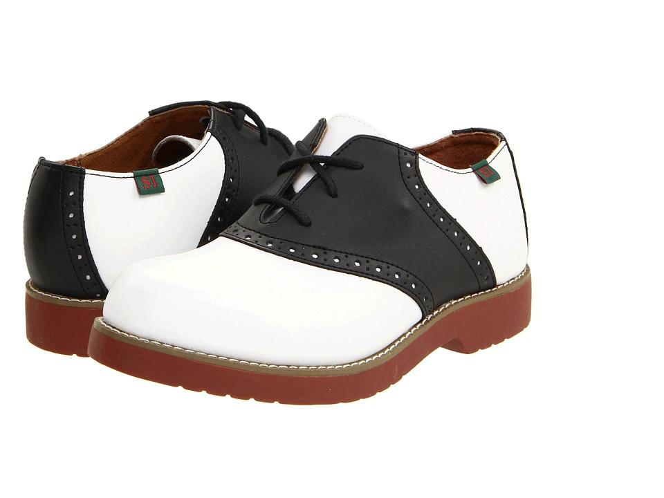 Retro Vintage Style Wide Shoes School Issue - Varsity Adult WhiteBlack Girls Shoes $62.95 AT vintagedancer.com
