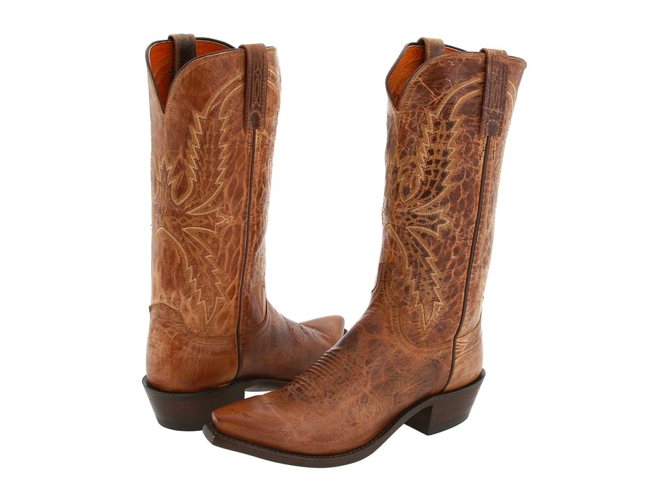 Lucchese - N1547 5/4 (Tan Mad Dog Goat) Cowboy Boots