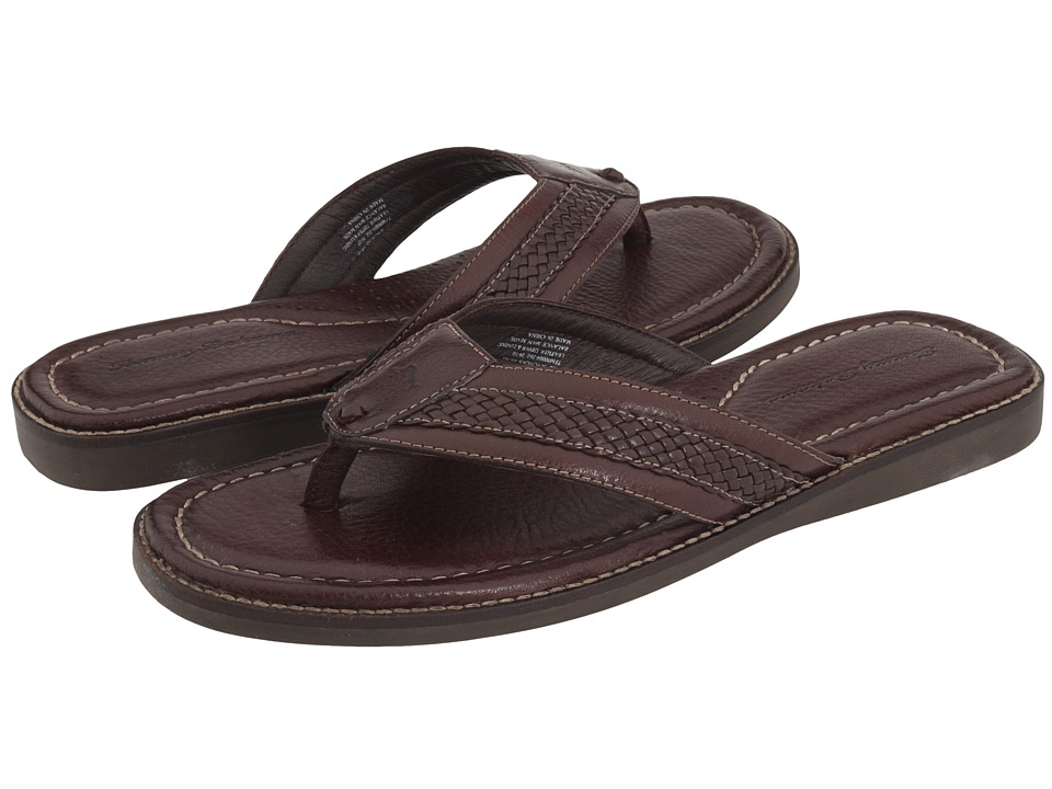 Tommy Bahama - Anchors Away (Dark Brown Leather) Men