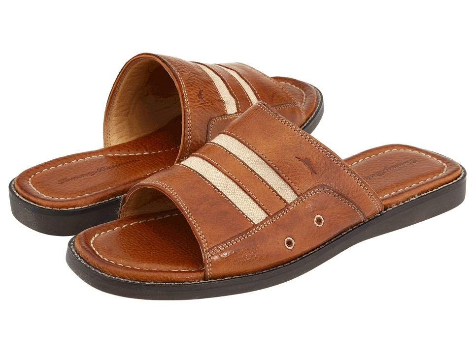 Tommy Bahama - Anchors Away Slide (Brown Leather) Men