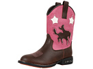 Roper Kids Western Lights Cowboy Boots (Toddler/Little Kid) (Brown/Pink)