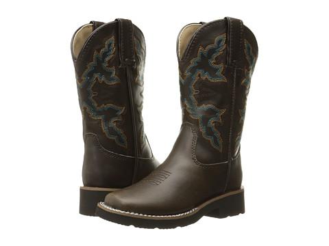 Roper Kids Square Toe Cowboy Boots (Toddler/Little Kid) - Brown