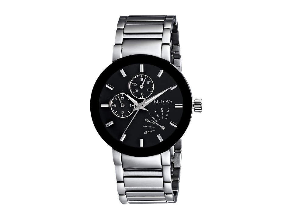 Bulova - Mens Essentials - 96C105 (Stainless Steel/Black) Dress Watches