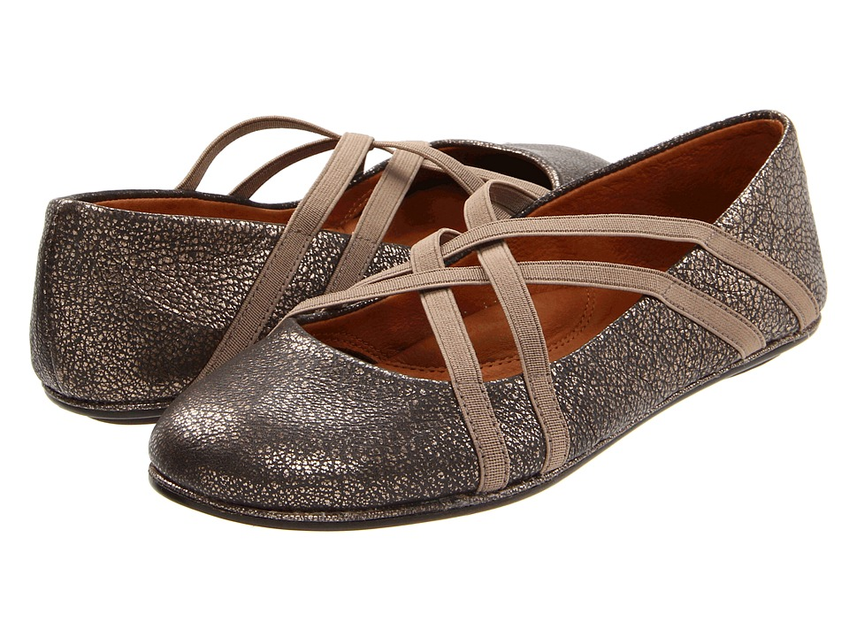 Gentle Souls Bay Braid Antique Pewter Womens Flat Shoes