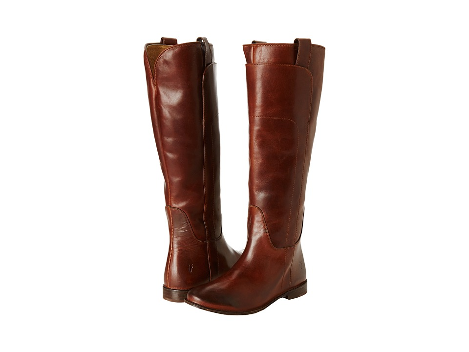 Frye Paige Tall Riding (Cognac Calf Shine) Women's Pull-on Boots