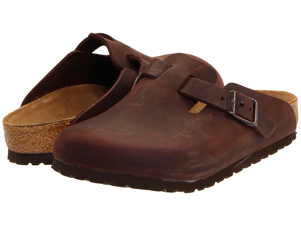 Birkenstock - Boston - Oiled Leather (Unisex) (Habana Oiled Leather) Clog Shoes