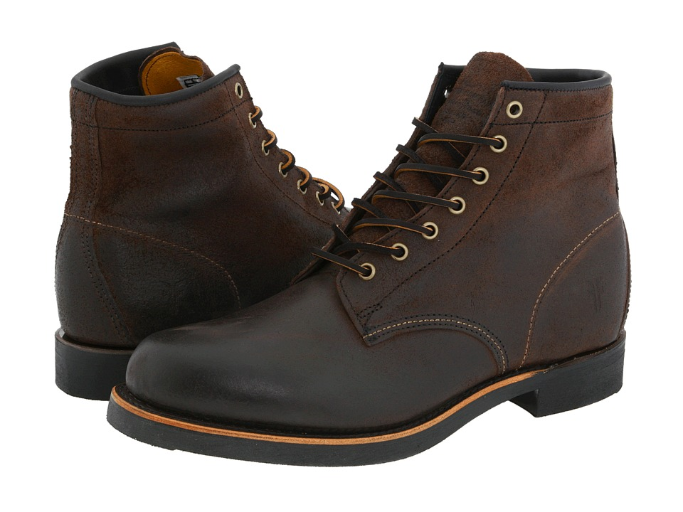 Frye - Arkansas Mid Lace (Brown Oiled Suede) Mens Lace-up Boots