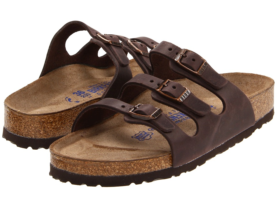 Birkenstock - Florida Soft Footbed - Leather (Habana Oiled Leather) Womens Sandals