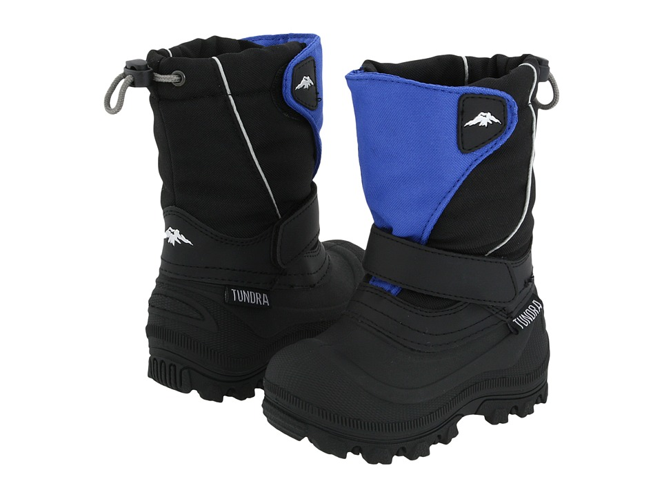 Tundra Boots Kids - Quebec Wide (Toddler/Little Kid/Big Kid) (Black/Royal) Boys Shoes