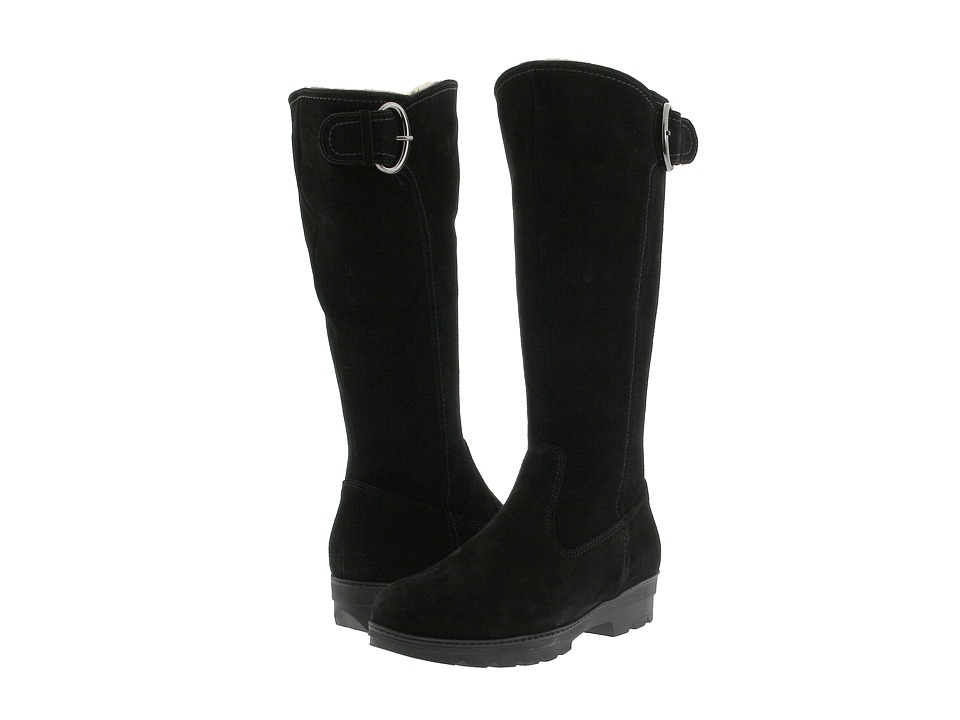 La Canadienne Vale (Black Suede) Women's Pull-on Boots