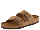 Birkenstock - Arizona Soft Footbed (Jasper Suede) - Footwear, Sandals, Womens Slides