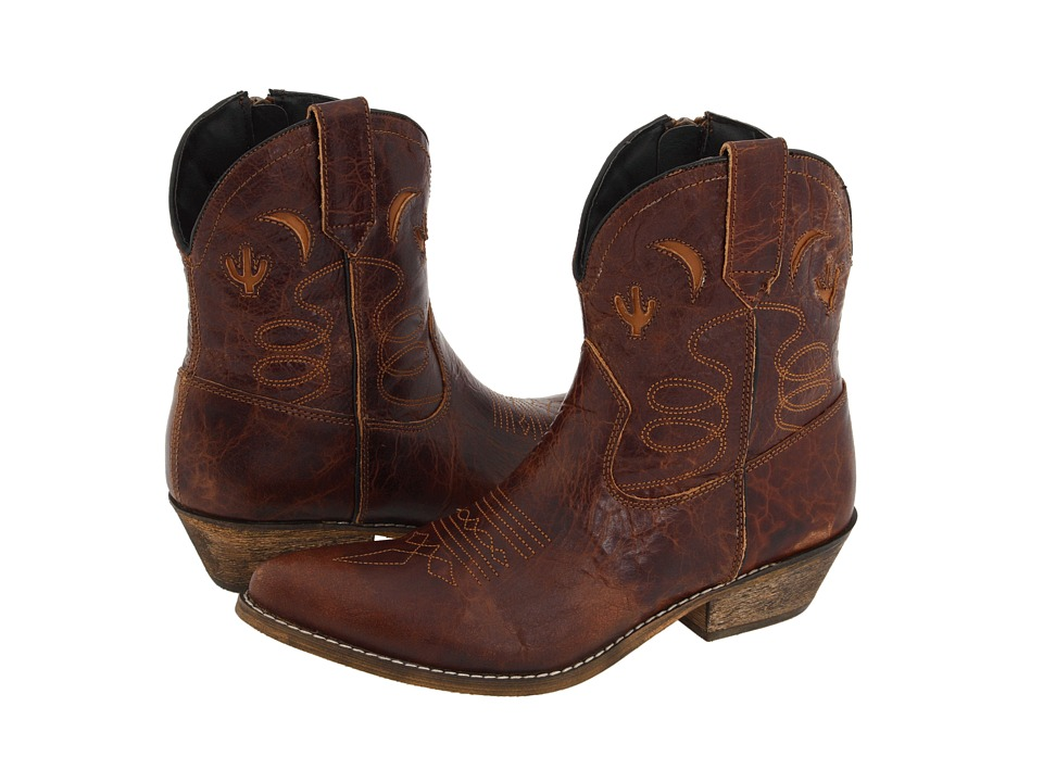 Dingo Adobe Rose (Light Brown Distresssed) Cowboy Boots
