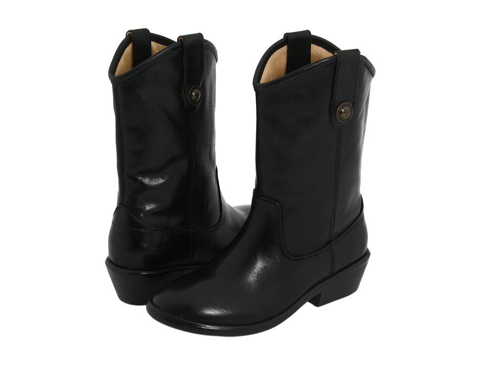 Frye Kids Melissa Button (Toddler/Little Kid/Big Kid) (Black) Girls Shoes
