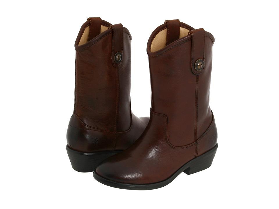Frye Kids Melissa Button (Toddler/Little Kid/Big Kid) (Dark Brown) Girls Shoes