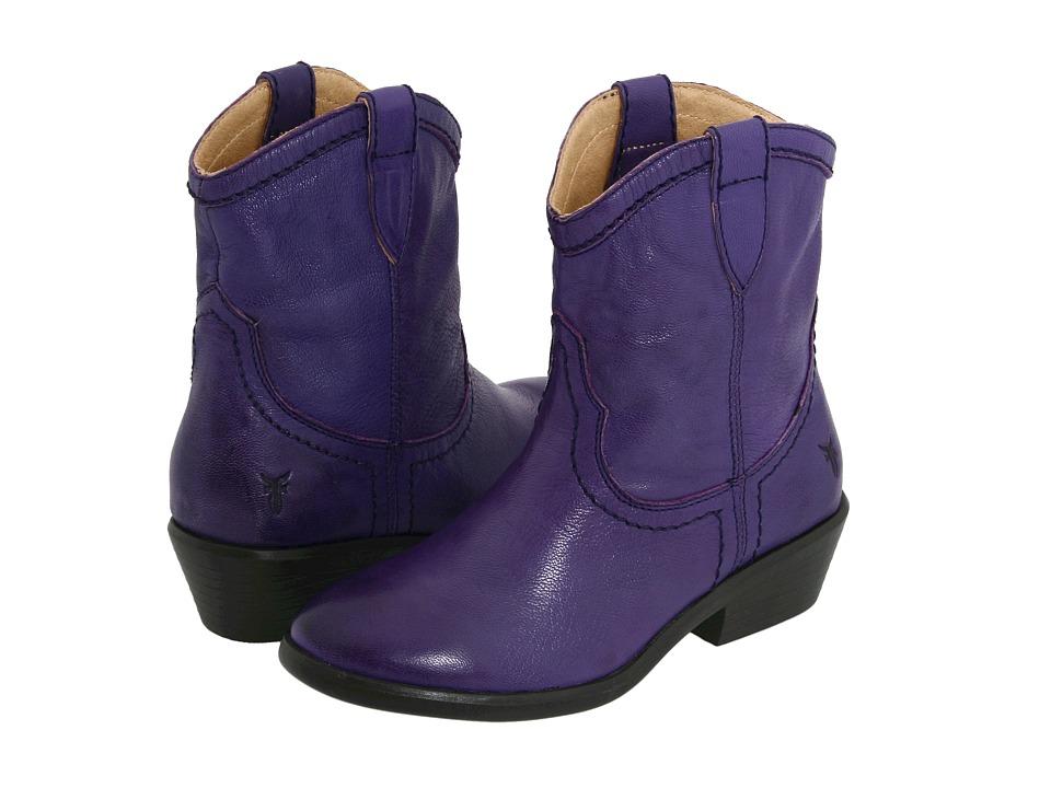 Frye Kids - Carson Shortie (Little Kid/Big Kid) (Plum) Girls Shoes