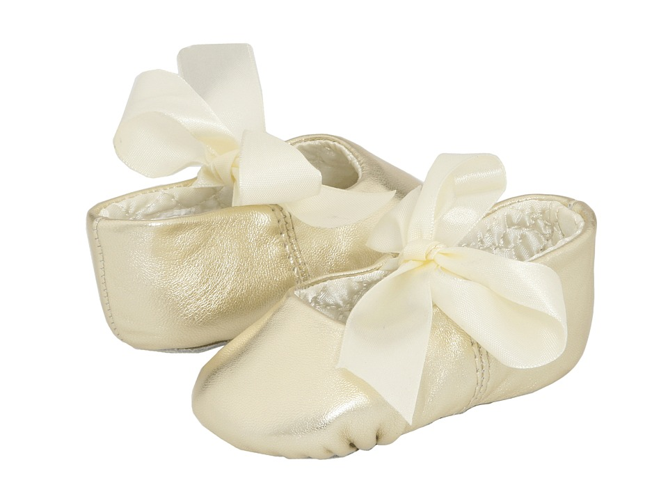 Baby Deer Sabrina Ballet 2 Infant Gold Leather Girls Shoes