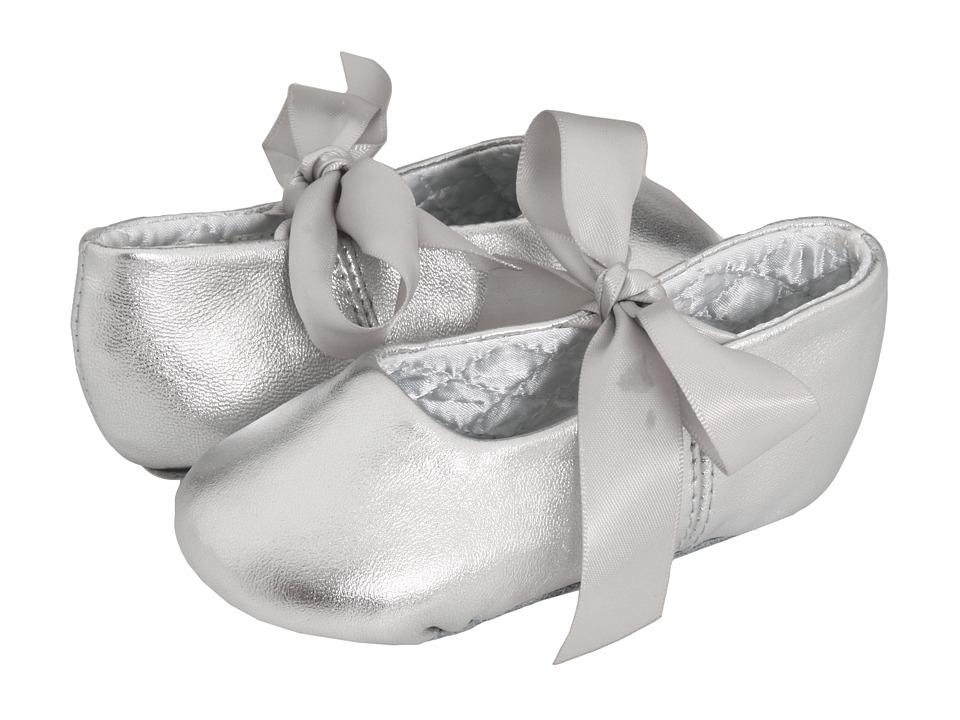 Baby Deer Sabrina Ballet 2 Toddler/Little Kid Silver Leather Girls Shoes