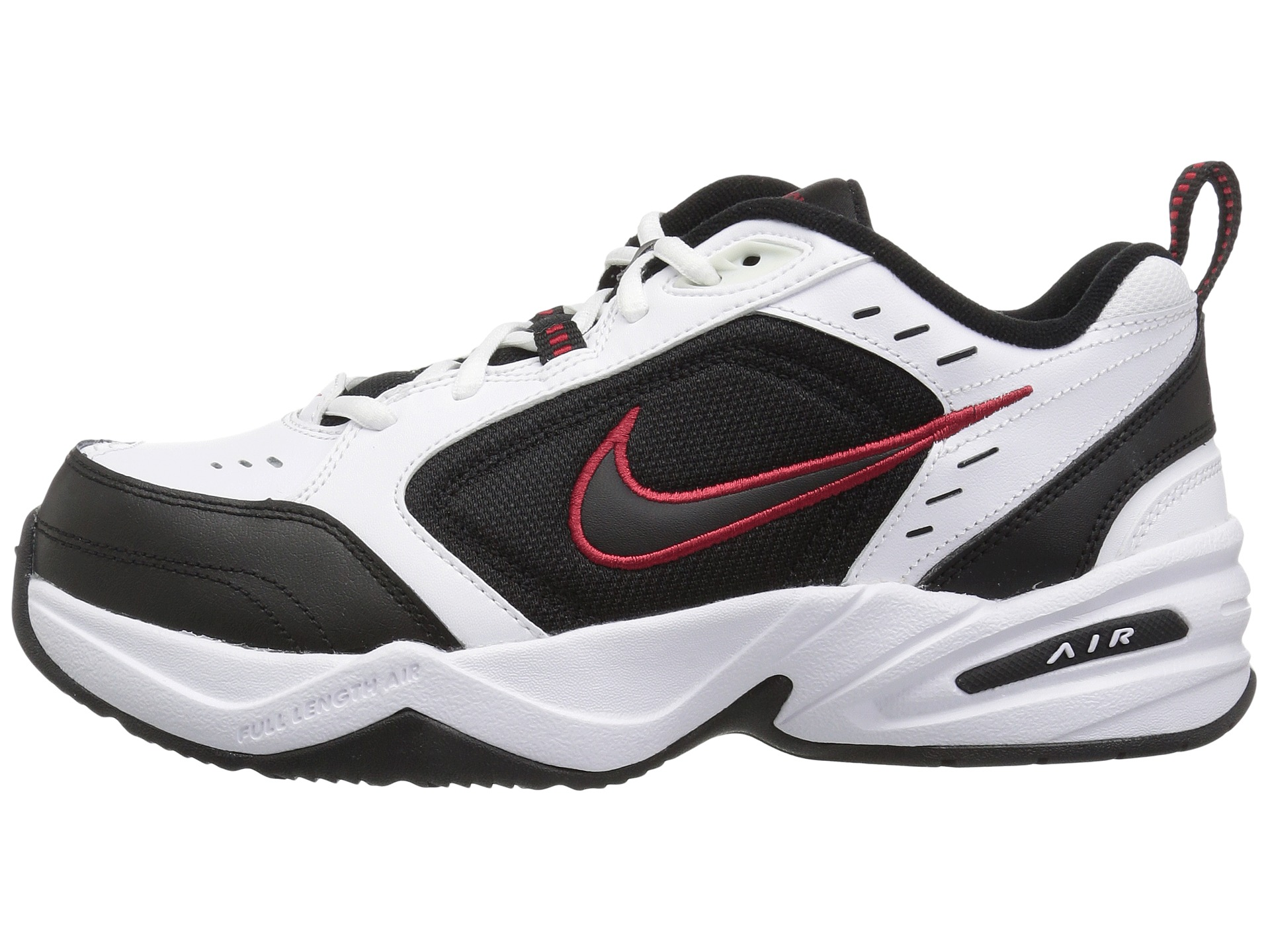 New Nike Air Monarch IV Wide Training Shoe White Silver Navy Men