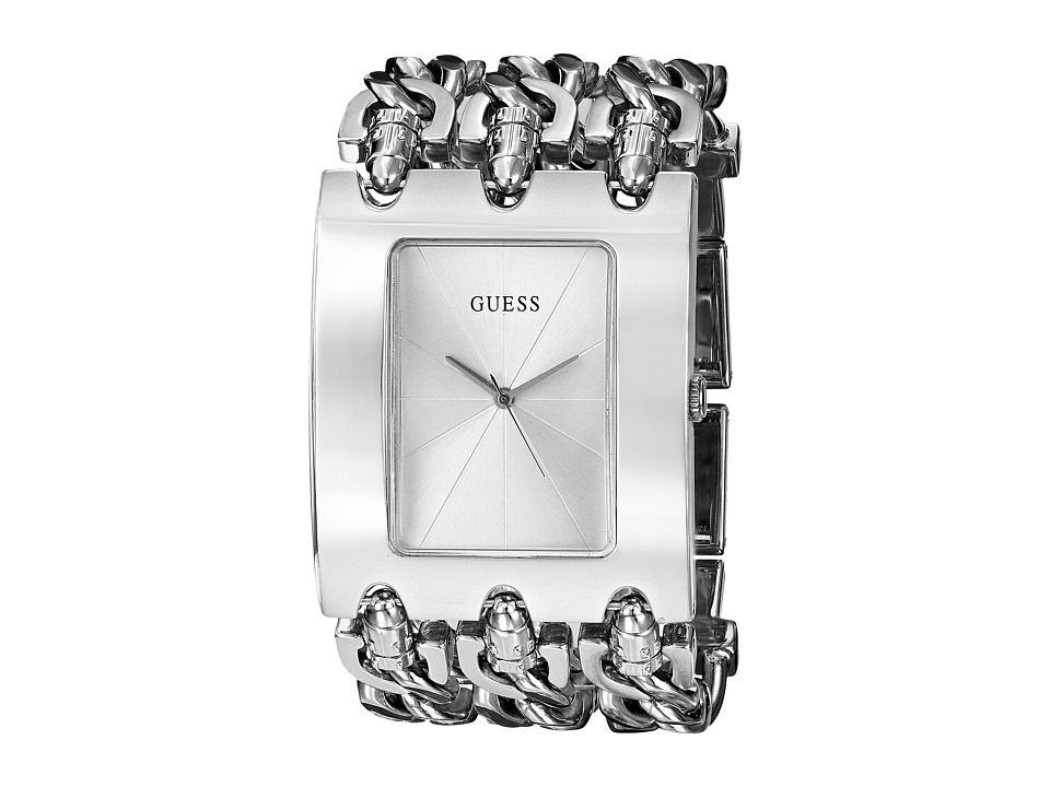 GUESS G85719L Stainless Steel Bracelet Watch Silver Dress Watches