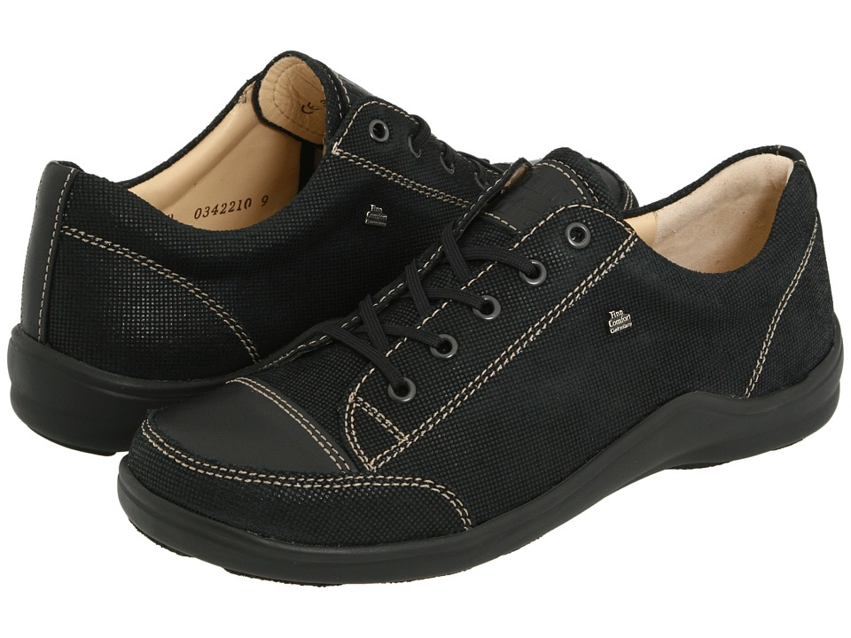 Finn Comfort Soho 82743 Black Points Leather Womens Lace up casual Shoes
