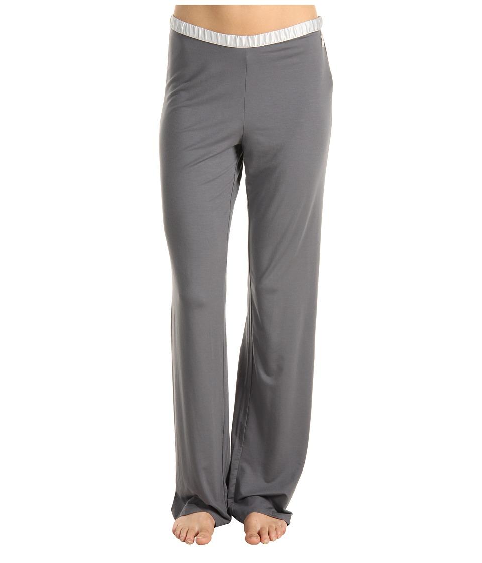 Calvin Klein Underwear - Essentials w/ Satin Trim PJ Pant (Medium Charcoal) Women's Pajama