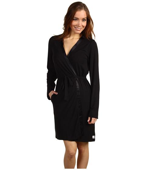 Calvin Klein Underwear Essentials w/ Satin Trim L/S Short Robe