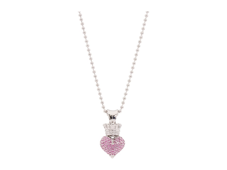King Baby Studio - Small 3D Pink CZ Pave Crowned Heart