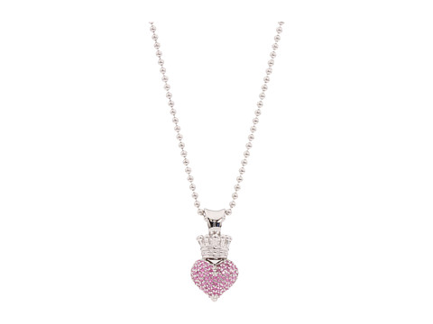 King Baby Studio Small 3D Pink CZ Pavé Crowned Heart