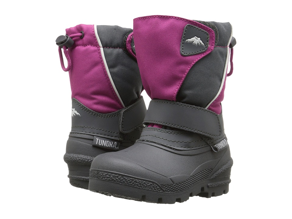Tundra Boots Kids Quebec Toddler/Little Kid/Big Kid Pink/Charcoal Girls Shoes