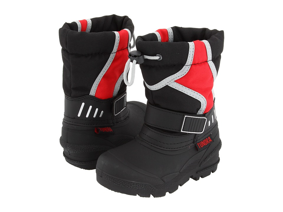 Tundra Boots Kids - Ottawa (Infant/Toddler) (Black/Red/Grey) Boys Shoes