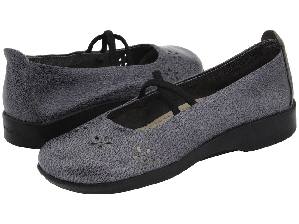 Arcopedico Flower Pewter Leather Womens Maryjane Shoes