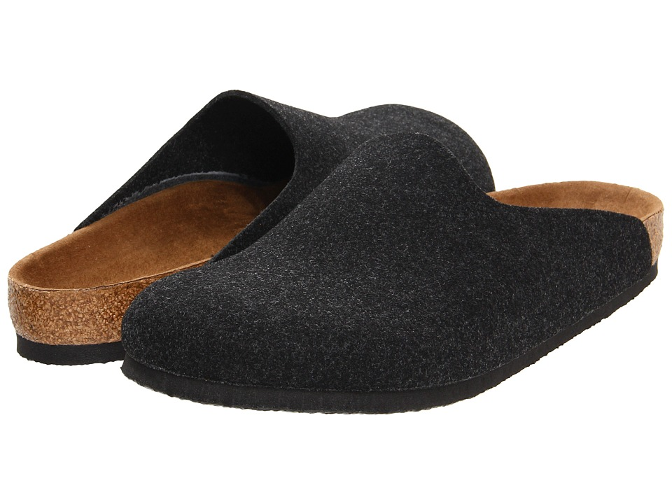 Birkenstock - Amsterdam (Anthracite Wool Felt) Clog Shoes