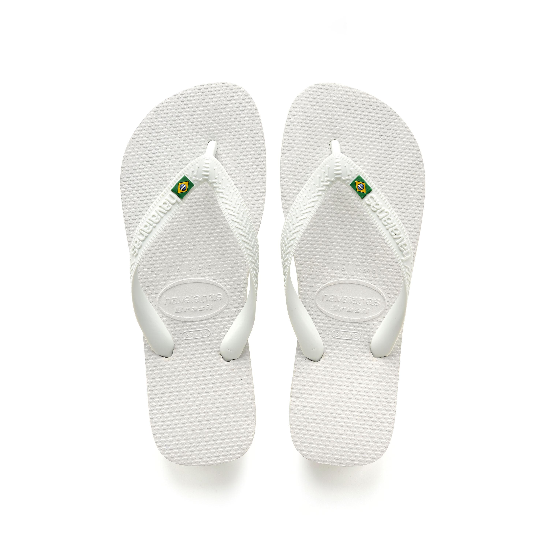 Havaianas Brasil Flip Flops White Mens Sandals