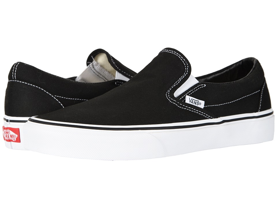 Vans Classic Slip-On Core Classics (Black (Canvas)) Shoes