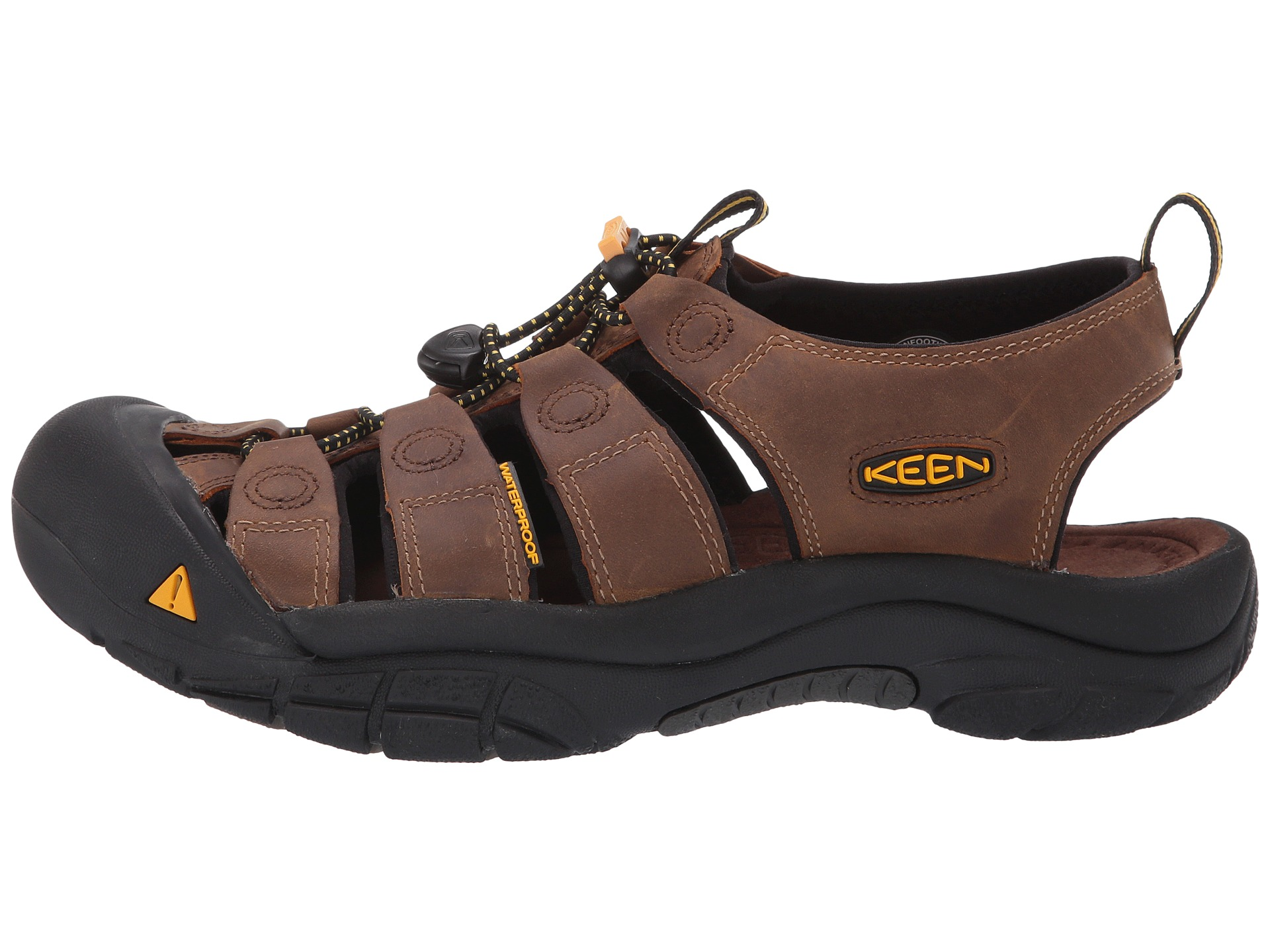 Casual shoes and sandal styles with performance influences, KEEN offers true comfort features. Each KEEN style has metatomical and removable EVA footbeds for cushioning and support, compression-molded EVA midsoles to absorb shock, non-marking carbon rubber outsoles for superior traction, and waterproof leather uppers to protect feet.