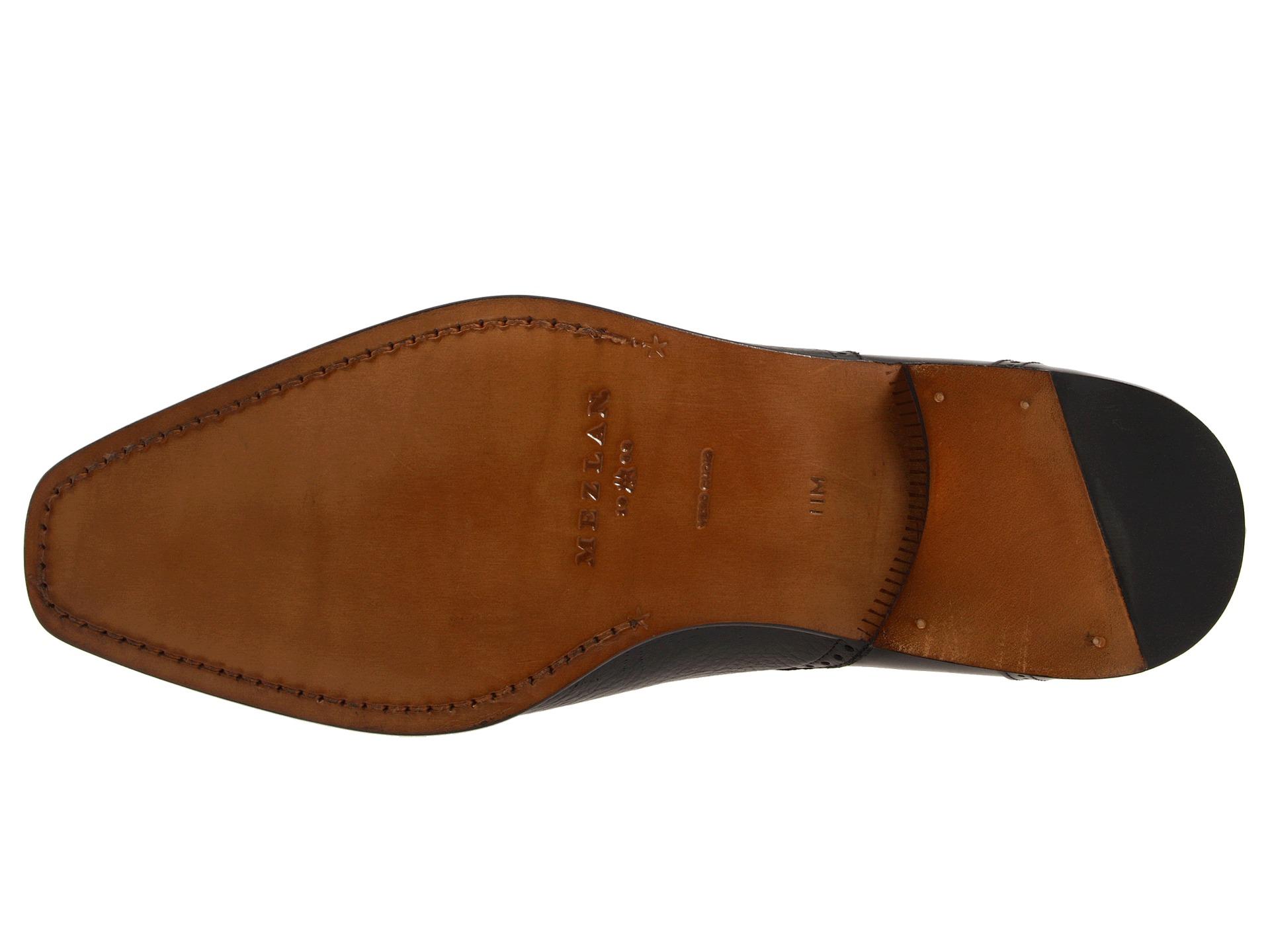 Mezlan  Men/'s TYSON II Classic Dress Oxford Genuine Deerskin BLACK Shoes 12859