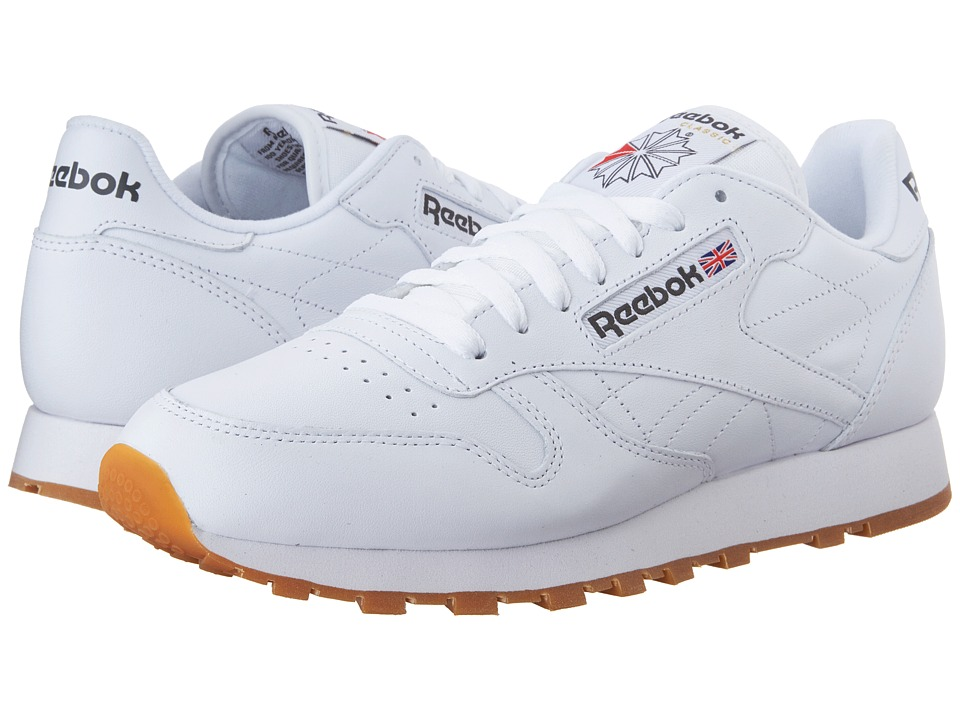 Reebok Lifestyle - Classic Leather (White/Gum) Mens Classic Shoes
