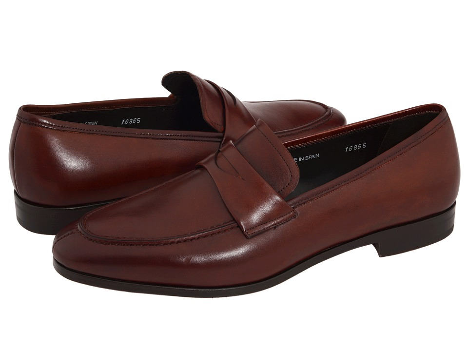 Mezlan Bradley II (Cognac) Men's Slip-on Dress Shoes