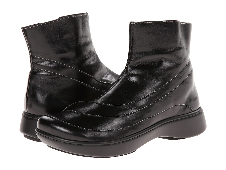 Naot - Tellin (Black Madras Leather) Womens Zip Boots
