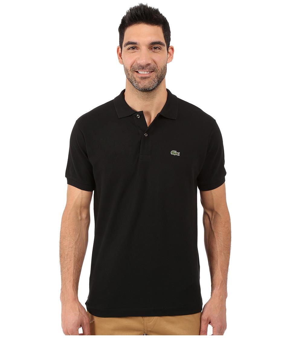 Lacoste - L1212 Classic Pique Polo Shirt (Black) Men
