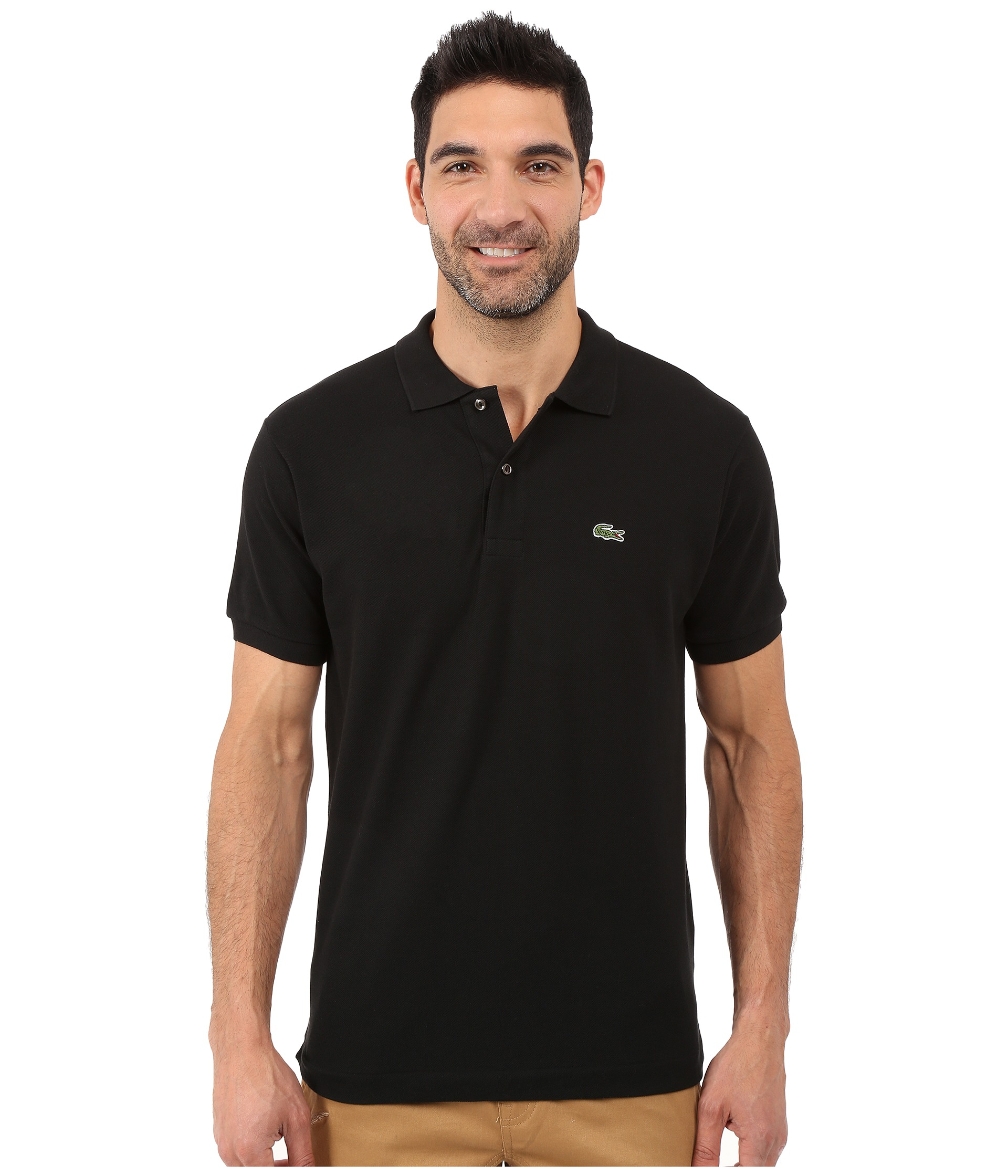 Lacoste classic pique polo shirt shipped free at zappos for Discount lacoste mens polo shirts